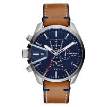 Diesel DZ4470 Ms9 Chronograph Men Blue Dial Brown Leather Strap [DZ4470]