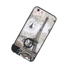 JantensOppo R9s Fashion Cute Animal Lace Eiffel Tower Ring Phone Case  Hard Back Cover send rope-gray-Tower