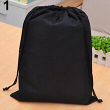 Farfi Waterproof Non-woven Shoe Clothes Storage Bag Travel Wash Pouch Drawstring Bag