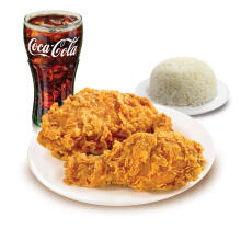 Texas Chicken - Combo 2 PC (2 Ayam + 1 Nasi + 1 Drink) Value Rp 46.000
