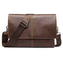 COZIME Original Design Male Bag PU Leather Small Crossbody Business Brown