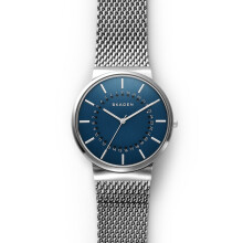 Skagen Ancher - Blue Round Dial 40mm - Stainless Steel - Silver - Jam Tangan Pria - SKW6234 - SL