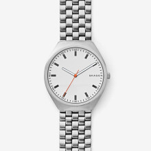 Skagen Grenen - White Round Dial 40mm - Stainless Steel - Silver - Jam Tangan Pria - SKW6388
