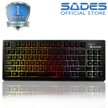 Sades Sabre TKL RGB Gaming Keyboard Black