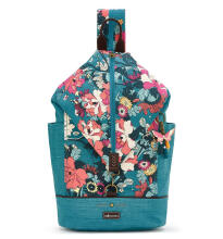 Sakroots City Backpack Teal Flower Power