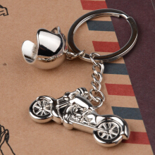 JMS - 1 Pcs Key Chain Ring / Gantungan Kunci Model Motor Harley Helmet