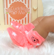 CUDDLE ME Booties - Orange Star