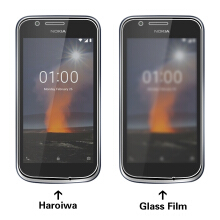 MOONMINI for  1 Pack Tempered Glass Screen Protector Film Anti-Scratch Screen Cover for Nokia 1 As Shown