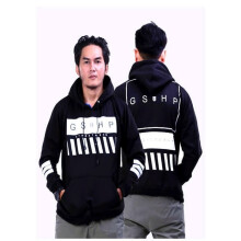 G-SHOP - MEN SWEATER JAKET HOODIES DISTRO PRIA - JNL 1472 - HITAM SIZE- L