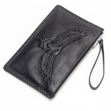 jantens     2018 Men Business Genuine Leather Purse Male Animal Wallet Card Holder Top Quality Jungle Camouflage