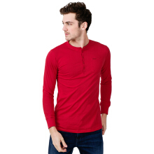 Men Long Sleeve Tee - Red