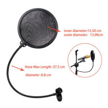 Pop Filter Mikrofon Layer Ganda Mesh Windscreen / Microphone Filter