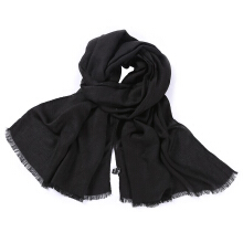 Qianyuanyuan Fashion curling literary versatile cotton and linen scarf