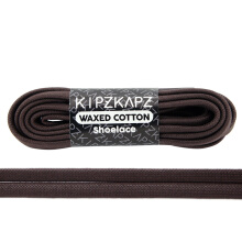 KIPZKAPZ WS30 Waxed Cotton Flat Shoelace - Dark Brown [6mm]
