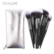 FOCALLURE Multi-Functional Beauty Tools Honey Powder Blush 10 Makeup Brushes