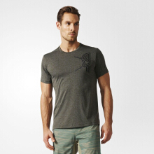 Adidas Freelift Tri-Color Men's Tee- Utily Green BK2724