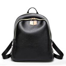 SiYing Korean version of the shoulder bag foreign trade rivet backpack Black