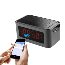 S-61 Bluetooth Speaker Alarm Clock FM Radio Black