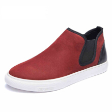 AOKANG 2017 New Arrival men's casual shoes men genuine leather shoes men's fashion shoes red