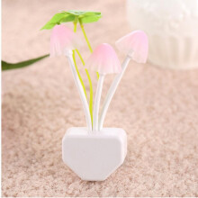 Jantens Plug replaceable LED light mushroom night light wireless bedside lighting sensor automatically start Colorful