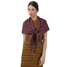 IKAT Indonesia Maroon Malini Scarf Maroon ALL