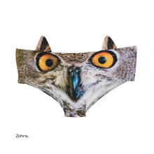 Lovely Owl Design Low Waist Women Panties Sexy Cotton Underwear Underpants Multicolour