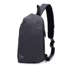 [COZIME] Multifunctional Chest Bag USB Charging Chest Bag Anti-theft Crossbody Bags Light Grey1