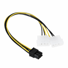 Blitzwolf Akasa AK-CB4-6 4pin Molex to 6pin PCIe Adapter Provides PSU Support for PCIe VGA Cards   -  -