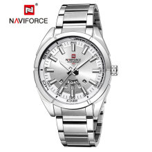 NAVIFORCE Brand Men Watches Luxury Sport Quartz 30M Waterproof Watches Stainless Steel Auto Date Wristwatches 9038