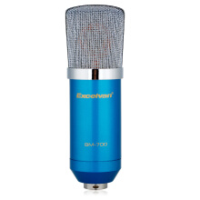 Aosen Excelvan Cardioid Condenser Microphone For Studio Recording With Shock Mount Blue BM-700