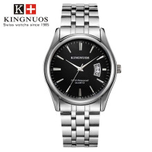 KINGNUOS Fashion Men's watch with waterproof watch relogio masculino watch men's steel strip wristwatch