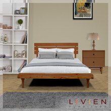 Tempat Tidur Bed Aquilla Series Brown Set - King Bed - LIVIEN FURNITURE