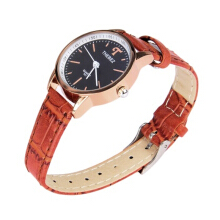 Vaping Dream - THEBEZ 861 Jam Tangan Wanita Strap Kulit Design Numberless Brown