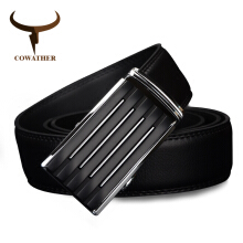 COWATHER men`s casual cow genuine leather belts for men strap male belt golden automatic buckle