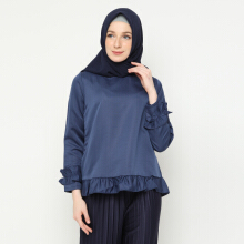 NAFEESA Tunik Adiva Navy Allsize Navy Blue All Size