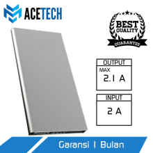 UniqueShop - Acetech Powerbank 12500mah - Power Bank 12500 mAh - powerbank Slim - Perak