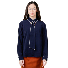 THE EXECUTIVE Women  5-BLWFEM118C009 Blouse -Navy