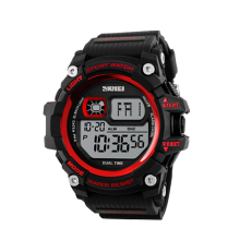 SKMEI Jam Tangan Pria Digital 1229 Red Water Resistant50m