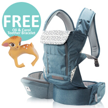 Pognae No. 5 Plus Hipseat and Baby Carrier Blue