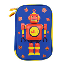 WIGGLE Robot Hard Case Pencil Case Random Color