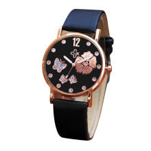 PEKY Women Bracelet Watch Fashion Leather Simple Women Dress Color Strap Watches