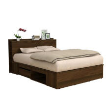 Prissilia Freeman Bed Divan Brown Wallnut