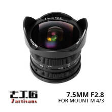 7Artisans 7.5mm F/2.8 For Micro Four Third Lens Black