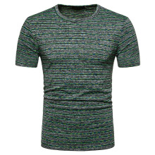 Fashionmall Men's T-Shirts Elastic Fashion Performance Tee Athletic Striated Shirt