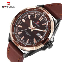 NAVIFORCE Brand Quartz Watches Leatehr Waterproof Analog Watches Mens Date Casual Clock Relogio Masculino