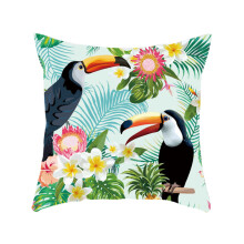 Farfi Toucan Leaves Square Throw Pillow Case