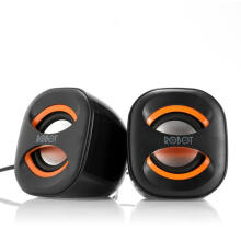 ROBOT RS160 USB Multimedia Portable Music Speaker Black+Orange