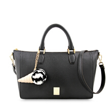 Les Catino New York Rockefeler Satchel Solid Black Solid Black