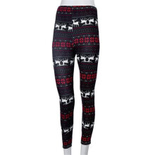 [OUTAD] Christmas Leggings For Women Casual Elasticity Skinny Printed Stretchy Pants Printed