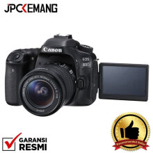 Canon EOS 80D Kit EF-S 18-55mm Built-in Wifi GARANSI RESMI